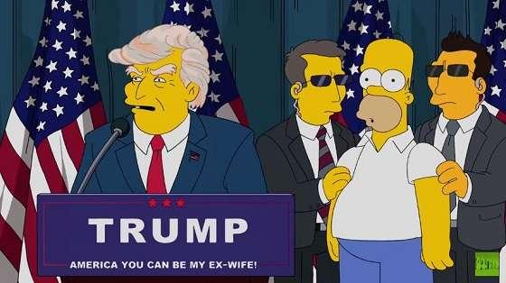 トランプ大統領誕生を16年前に予言していたアニメ「ザ・シンプソンズ」 - 本日もトントン拍子