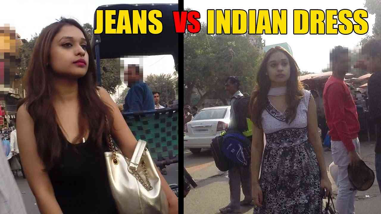 10 Hours of Walking in Delhi as a Woman - Jeans VS Indian Dress [Share for Message] - YouTube
