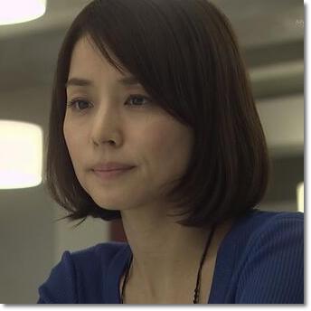 ブロンドヘアーの石田ゆり子さん