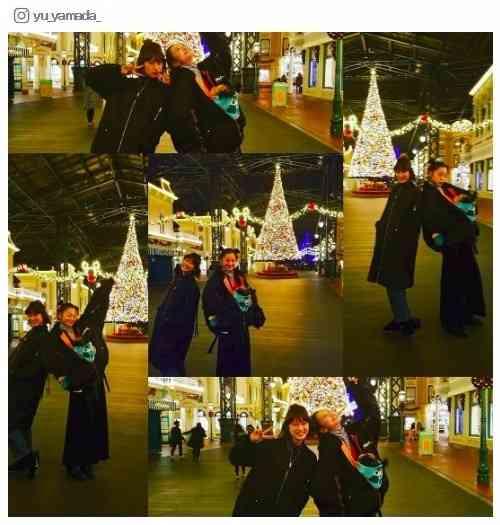 山田優&西山茉希、変装なしでディズニー満喫「子供以上にはしゃぐ親2人」に反響 - モデルプレス