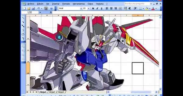 超技術!エクセルで描かれたガンダムが表計算ソフトのレベルじゃない!  –  grape [グレイプ]