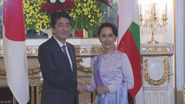 首相 ミャンマーに8000億円規模の支援表明 | NHKニュース