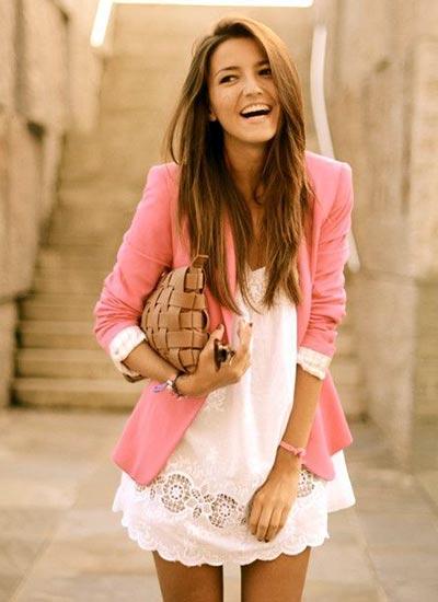 ピンク色を使ったコーデ