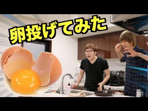 ヒカキンさん家で卵投げてみた - YouTube