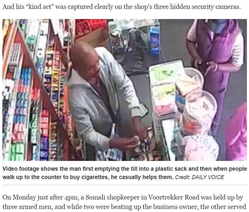 【海外発!Breaking News】犯行中に客が入店 笑顔で商品を売る強盗(南ア) | Techinsight|海外セレブ、国内エンタメのオンリーワンをお届けするニュースサイト