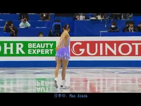 World2014 Mao ASADA SP [ 英ユーロ実況 / 日本語字幕付] - YouTube