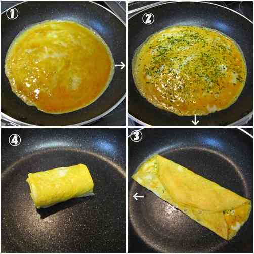卵1個で卵焼き : しあわせ弁当箱♪