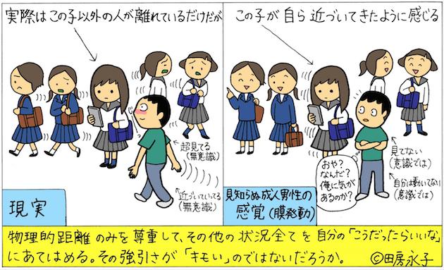 【不快画像注意】通りすがりの少女を性的イラスト化・Twitter等で公開し続けた男性に対する、漫画家・田房永子氏のコラムが話題