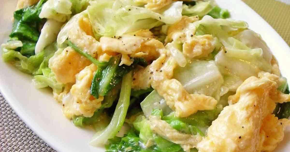 簡単!キャベツと卵だけでも美味しい中華 by moj [クックパッド] 簡単おいしいみんなのレシピが253万品