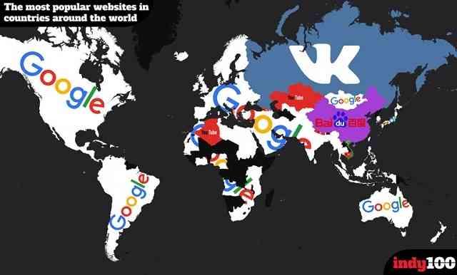 国別で見る、1番アクセスされているウェブサイト