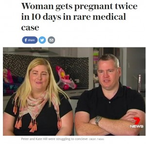 10日間で2度妊娠した女性 血液型も違うミラクルベイビーが誕生(豪)