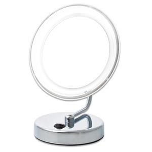 【楽天市場】【送料無料】拡大鏡 5倍拡大+LEDライト付き 真実の鏡DX 折りたたみ型 しっかり見えるからメイクアップやお手入れがしやすい!電池でもコードでも使える折りたたみ式 角度調節可 (かがみ ミラー 化粧鏡 手鏡 毛穴 白髪 スタンド 卓上 おすすめ オススメ 通販 楽天):プロモワールド