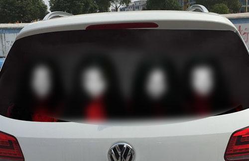 中国で流行中の「車のリアウィンドウに貼るシール」がマジで怖い!事故るでコレ・・・:はちま起稿