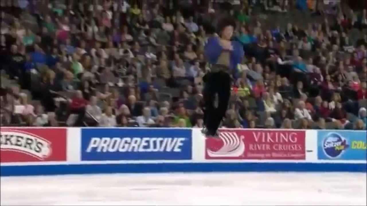 さらっと観てみよう 町田樹2014スケートアメリカFS『交響曲第9番』 - YouTube