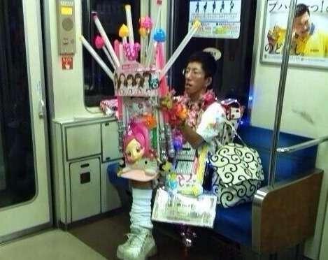 電車内で遭遇したツワモノ