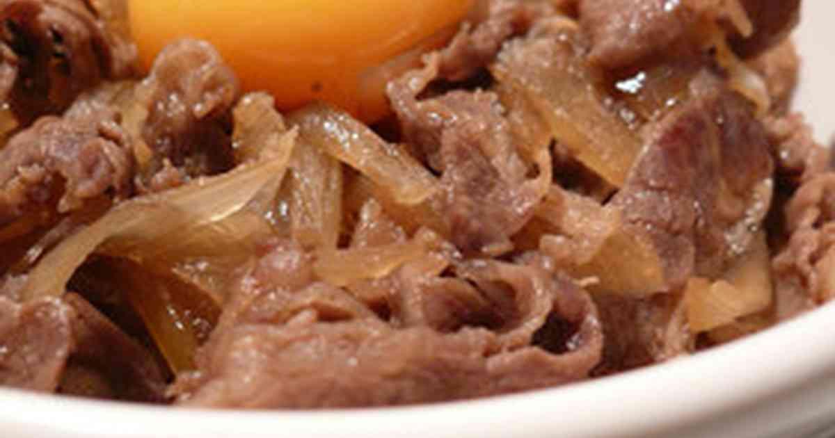 関西風すき焼き味の牛丼☆玉ネギたっぷり by gomacookie [クックパッド] 簡単おいしいみんなのレシピが253万品