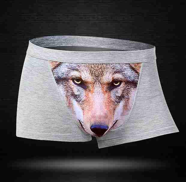 【下ネタ注意?】下半身から野生を取り戻せ! アグレッシブな狼パンツが話題