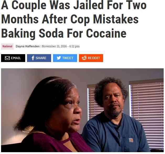 【海外発!Breaking News】粗悪すぎる薬物検査 重曹をコカインとみなされた夫婦が2か月拘置所に(米)   Techinsight 海外セレブ、国内エンタメのオンリーワンをお届けするニュースサイト