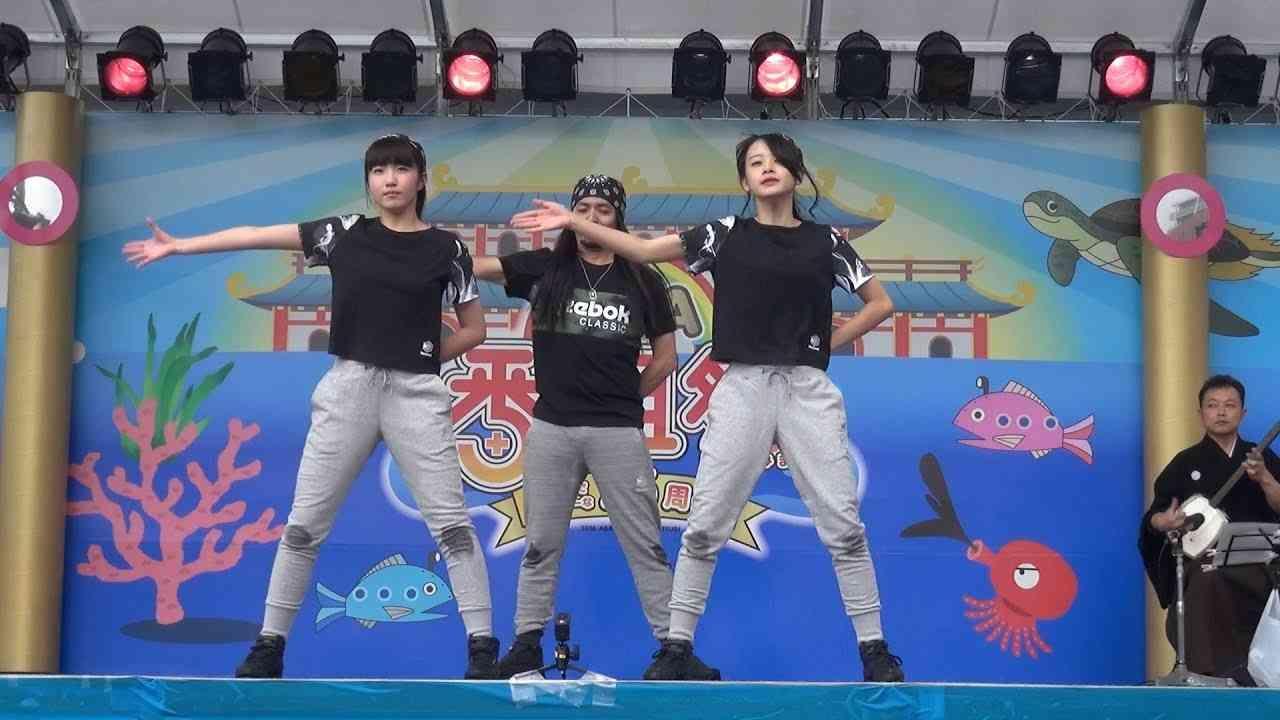 20161009 AKB48チーム8 横山結衣&本田仁美 ABA番組祭 だーよしコラボダンスLIVE - YouTube