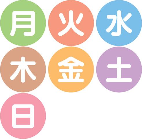 日・月・火・水・木・金・土 何曜日が一番好きですか?