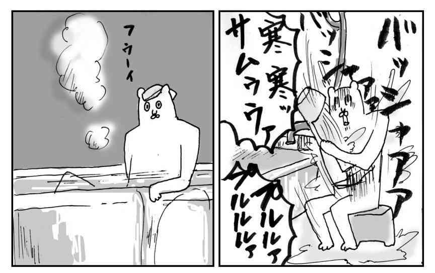 サーササ寒い寒い…「東北 冬の脱衣」と題して描かれた漫画が面白いw「すごく分かる」と共感の声!