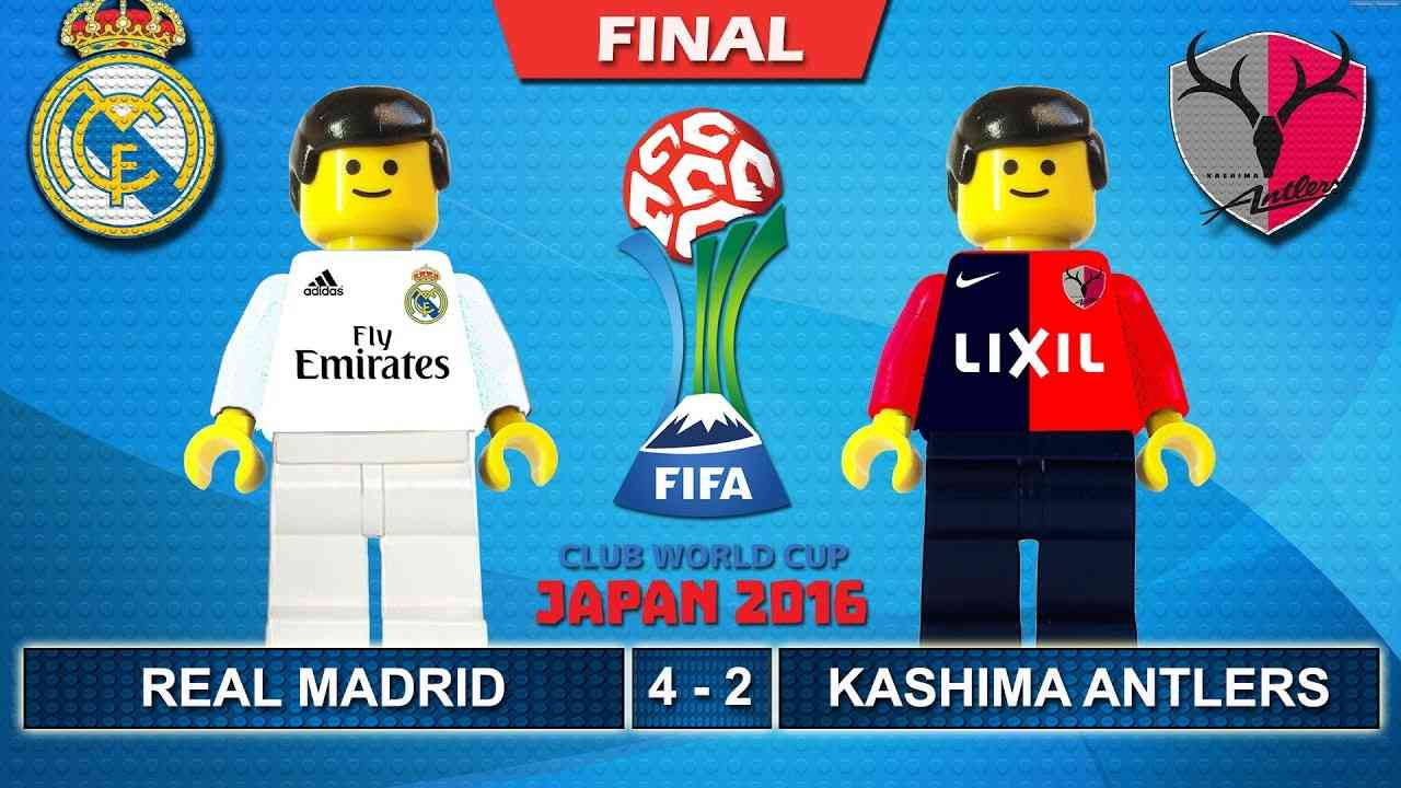 FIFA Club World Cup Japan Final 2016 • Real Madrid vs Kashima Antlers 4-2 ( FCWC Lego Football ) - YouTube
