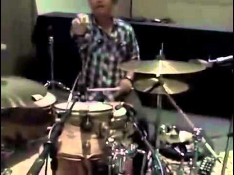 Bruno Mars playing the drums like a pro - YouTube