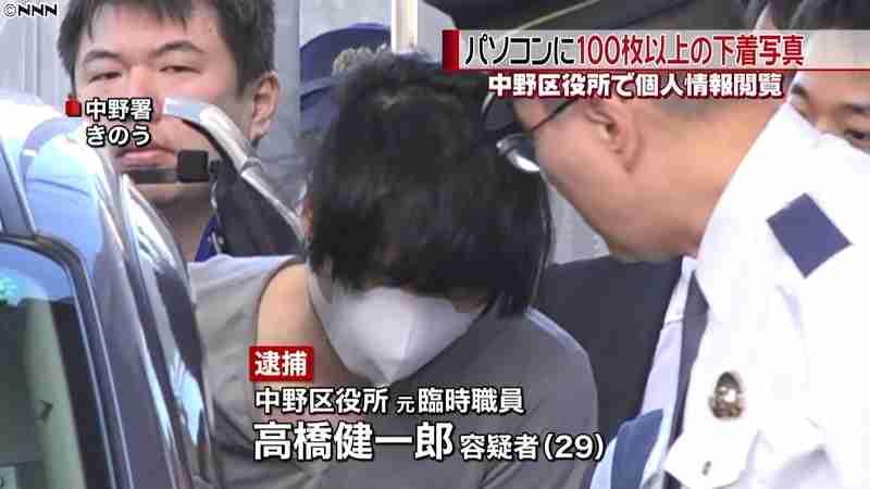 中野区元臨時職員PCに100枚超下着写真(日本テレビ系(NNN)) - Yahoo!ニュース