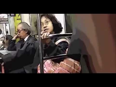 電車内で大声を出すキチガイ(その心笑ってるね)池沼、マジキチ Crazy woman screaming on the train - YouTube