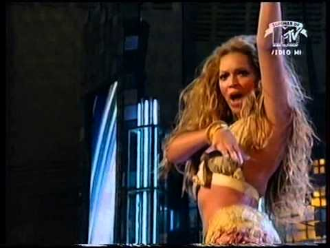 Beyonce   Medley Baby boy   Crazy in Love VMA 2003 - YouTube
