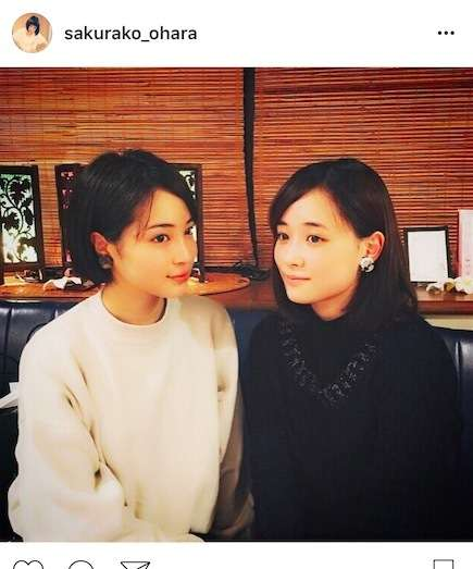 """大原櫻子、広瀬すずと色違い""""お揃い""""2ショットを披露。「姉妹みたい」「2人とも可愛すぎ」"""