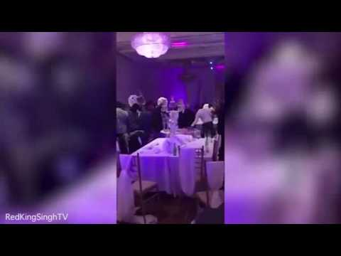 Guests throw chairs as huge fight breaks out during wedding - YouTube