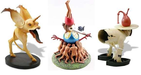 絵画「快楽の園」のシュールなキャラクターたちがフィギュアになった。ネット通販で販売中! : カラパイア