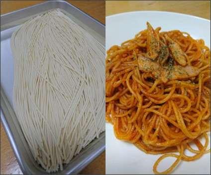 【サバ飯】パスタを茹でずに調理する「水漬けパスタ」が災害時に役立ちそう