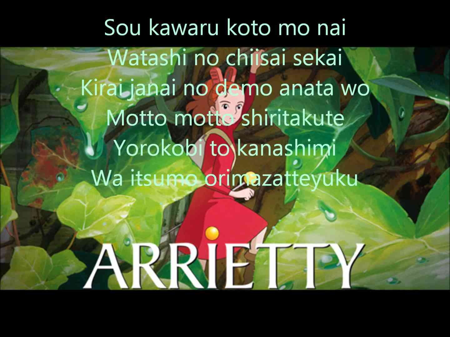Arrietty's Song  - YouTube