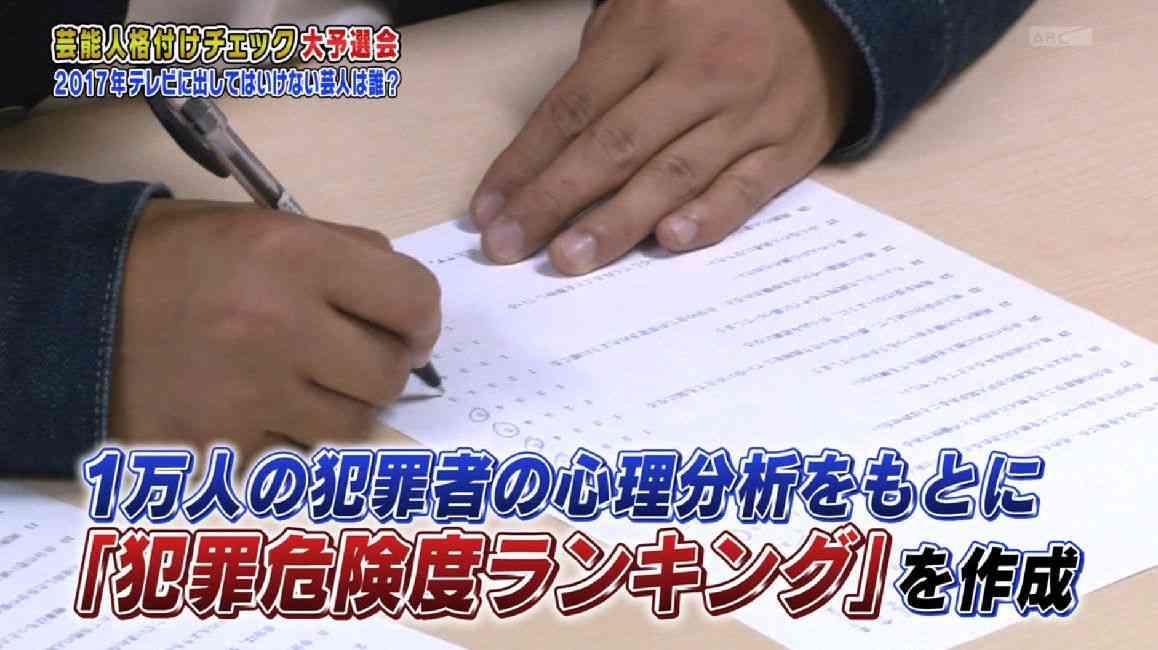 芸人の「犯罪危険度ランキング」が『格付けチェック予選会』で発表される