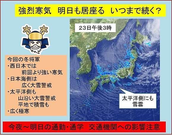 強烈寒気 明日も猛威 大雪と極寒(日直予報士) - 日本気象協会 tenki.jp