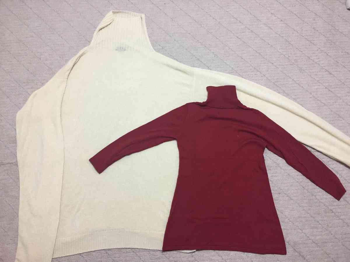 【画像】Mサイズのセーターを洗濯したらなぜか15Lくらいの超ビッグサイズに伸びたと話題に