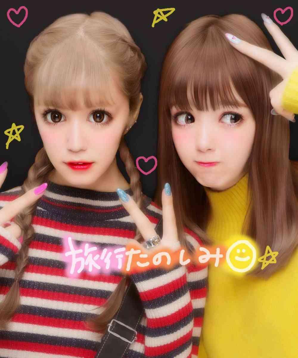 藤田ニコル&紗蘭、2ショットプリクラ公開「どっちがにこるん?」「さらにこ本当に似てる」の声