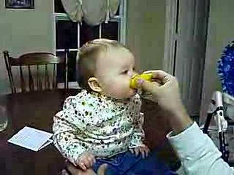 Baby Eats a Sour Lemon - YouTube