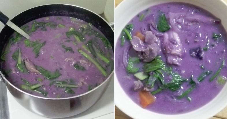 ジャガイモの代わりに紫芋でシチューを作ったらなんじゃこりゃあああ | netgeek