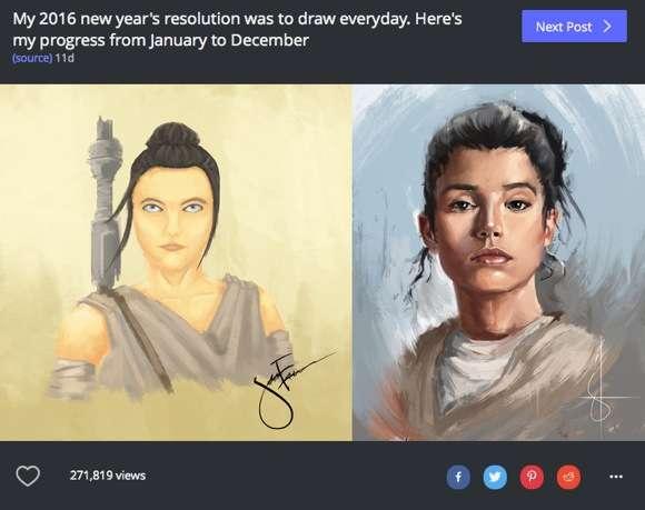 【新年の誓い】1年間休まずに「絵を描き続けた人」の上達っぷりがヤバい | ロケットニュース24