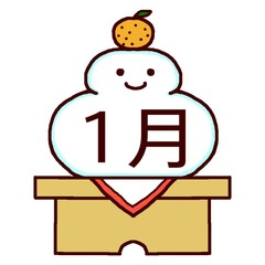 1月生まれの方を祝うトピ
