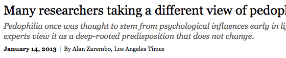 LAタイムズの小児性愛についての記事を翻訳しました | 包帯のような嘘