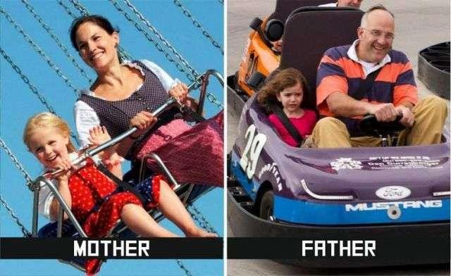 パパとママ、子育ての違い