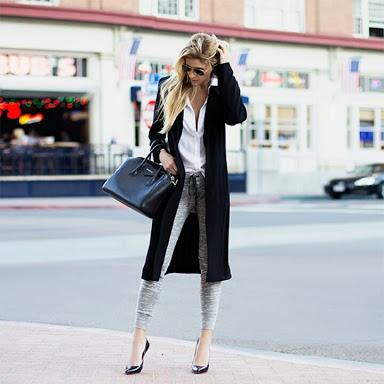 スタイルの良さが際立つファッション