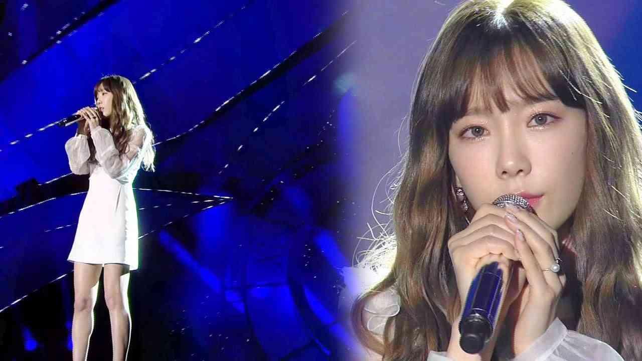'여신' 태연(Taeyeon)의 감미로운 발라드 '11:11' @2016 SAF SBS 가요대전 2부 20161226 - YouTube
