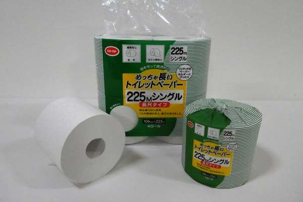 日本最長クラス、225mの「めっちゃ長いトイレットペーパー」阪神大震災での被災体験から生まれた