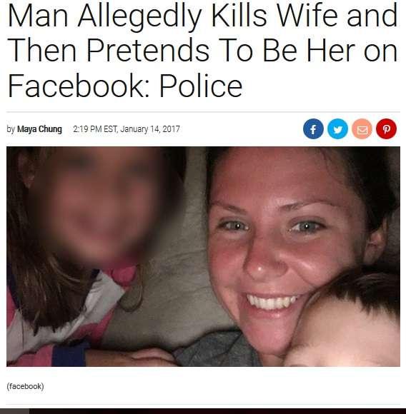 【海外発!Breaking News】妻を殺害後、妻になりすましてFacebookを更新し続けた夫(米) | Techinsight|海外セレブ、国内エンタメのオンリーワンをお届けするニュースサイト