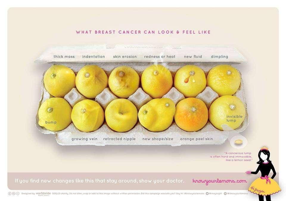 乳がんになるとどうなるのか「レモン」で示したイラストが一目瞭然とシェア数4万件を超える